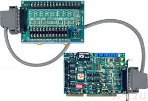 A-823PGL/S Multifunction Adapter ISA, 16SE/8D ADC, 2 DAC, 16DI, 16DO, Timer, Daughter Board DB-8225 Includes one CA-3710 D-Sub cable