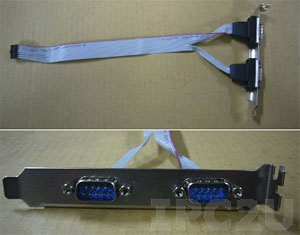 19800-000110-RS RS-232/422/485 cable with bracket, 5V, PVC, 250mm