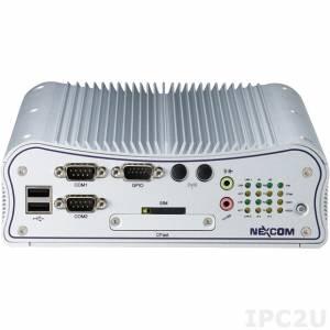 """NISE-2200-2xM02G Embedded Computer, Intel Atom D2550 1.86GHz, 4GB DDR3 RAM, DVI-I/HDMI, 2xGbit LAN, 6xCOM (2 w/isolation), 6xUSB, GPIO, Audio, SIM socket, 2.5"""" HDD Bay, CFast, Mini-PCIe, 9..36V DC-In"""