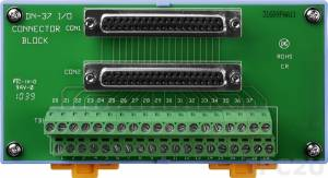 DN-37 DB-37 Connector Termination Board, DIN-Rail Mounting