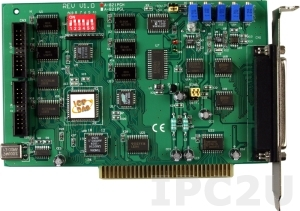 A-821PGH/S Multifunction Adapter ISA, 16SE/8D ADC, 1 DAC, 16DI, 16DO, Timer, Daughter Board DB-8225 Includes one CA-3710 D-Sub cable