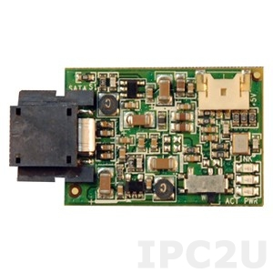 SDM-4G-V 4GB SATADOM, MLC, SATA 2, Vertikal mount without housing, with 2-pin Power cable for header on systems DIN-PC 33xx