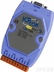 I-7188/512 PC-compatible 40MHz Industrial Controller, 512kb Flash, 256kb SRAM, 2xRS232, 1xRS485, 1xRS232/485, MiniOS7, cable CA-0910x1