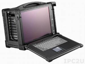"ARP650-15. Rugged Portable Workstation f/ SBC+PBP, 15"" (1024x768) TFT LCD, 2x 3.5"" drive bay, 1x Slim DVD bay, 11x slot, 400W ATX, VGA"