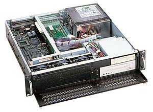 """GHI-200 19"""" Rackmount 2U Chassis, 6 Slots, 1x5.25""""Slim/1x3.5""""/1x3.5"""" HDD Drive Bays, without P/S"""