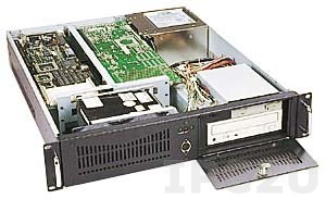 "GH-288SR 19"" Rackmount 2U Chassis, 6 Slots, 1x5.25""/1x3.5"" FDD/2x3.5"" HDD Drive Bays, without P/S"