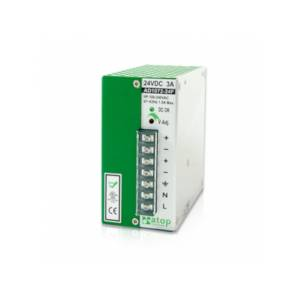 AD1072-24F 72W/3A DIN-Rail 24VDC power supply with universal 100~240VAC / 120~370VDC input