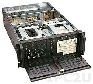 """GH-431SR 19"""" Rackmount 4U Chassis, 14/15 Slots, 6x5.25""""/1x3.5"""" FDD/1x3.5"""" HDD Drive Bays, without P/S"""