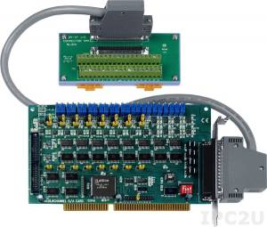 A-628/S Adapter ISA, 8 DAC, 16DI, 16DO, Screw Terminal Board DB-37