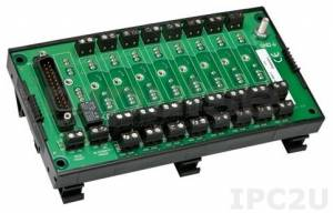 8BP08-1 8 Channels Backpanel for 8B Modules, DIN-Rail mounting, up to 50V