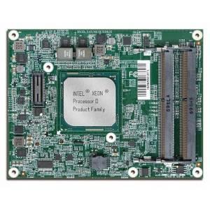 PCOM-B700G-D1548 Based Type 7 COM Express module with Intel Xeon D-1548 2.0GHz, Up to 48GB DDR4-2133 ECC/Non-ECC SDRAM SO-DIMM, 2xSATA III, 2xKR(10GbE LAN), 1xGbE LAN, 4xUSB 3.0/2.0, 1xPCIe x4, 8xPCIe x1, 12VDC-in