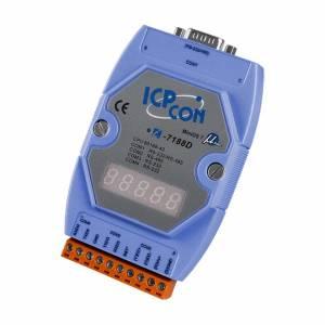 I-7188D/DOS/512 PC-compatible 40MHz Industrial Controller, 512kb Flash, 256kb SRAM, 2xRS232, 1xRS485, 1xRS232/485, 7-Segment Display, ROM DOS, cable CA-0910x1