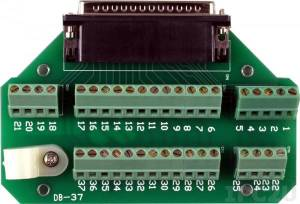DB-37 DB-37 Male Direct Connection Screw Terminal Board, up to 50V