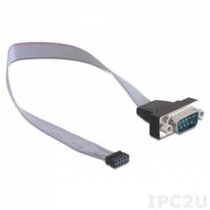 60233SIO62X00 COM port cable DB9 - 10pin, L:200mm, 15V