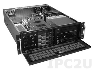 """GHI-A30-SATA 19"""" Rackmount 3U Chassis, ATX, 2x5.25""""/2x3.5"""" FDD/1x3.5"""" HDD/4x3.5"""" Hot Swap SATA HDD Drive Bays, without P/S"""