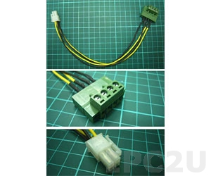 32100-192900-RS One 4-pin (2x2) to one 4-pin (1x4) DC power cable with terminal block