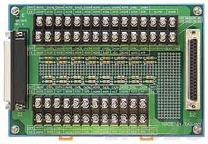 DB-1825/2/DIN Screw Terminal Board, DB-37 Connector, DIN-Rail Mounting, 50V max