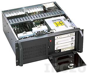 "GH-402SR 19"" Rackmount 4U Chassis, 14/15 Slots, 3x5.25""/1x3.5"" FDD Drive Bays, without P/S"