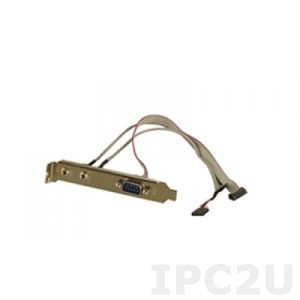 19800-000043-RS Audio/serial cable With bracket, 2 x Audio Jack to 2 x 4-pin (1 x 4) connector (P:2.54), 1 x DE9M to 1 x 10-pin (2 x 5) connector (P:2.0)
