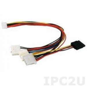 CB-704P8P9-RS DC cable AT power to P8P9, With HDD/SATA connector, 30cm