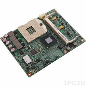 ICES-267 COM express Type2 Basic Module with Intel Core Mobile processors, socket FCPGA 998, QM67,DDR3, 3xSATA, 1xPCI-Ex4, 2xPCI-Ex1, PCIex16, PCI, IDE, LDVS, 8xUSB, Gb Ethernet, Audio, RoHS
