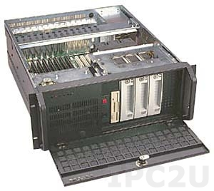 """GH-411SR 19"""" Rackmount 4U Chassis, 14/15 Slots, 4x5.25""""/1x3.5"""" FDD Drive Bays, without P/S"""