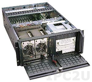 """GH-430SR 19"""" Rackmount 4U Chassis, 19 Slots, 3x5.25""""/1x3.5"""" FDD Drive Bays, without P/S"""