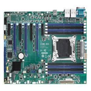ASMB-805-00A1 Server board ATX S2066, support Intel Xeon W, Intel C422, up to 512GB DDR4, 2xGb LAN, 7xSATA 3.0, 6xUSB 3.0, 1xRS-232, GPIO, 3xPCIe x16, 2xPCIe x8, 2xPCIe x4, 1 x M.2 B+M key (SATA and PCIe), SMBus