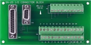 DN-25/N DB-9, DB-25 Female Connector Termination Board