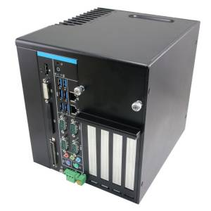 "SLP-SKL-1701-A1R Embeded Expandable Fanless PC, Intel Core i7-6700TE CPU, Q170 Chipset, Up to 32GB DDR4 2133MHz (4GB Default), DP, DVI-I, 2xGbit LAN, 6xUSB 3.0, 4xCOM, 2x2.5"" Drive Bay (RAID 0,1), mSATA, cFast, 16bit GPIO, 1xPCIe x16, 3xPCIE, Audio, 9-36V DC-In"