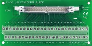 DN-50/N IDC-50 Connector Termination Board, up to 30V