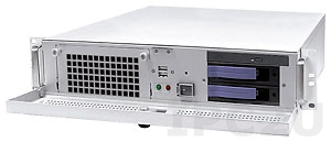 """AREMO-2173P-00-00 19"""" Rackmount 2U Chassis, 6 Slots, 1x5.25"""" Slim/2x3.5"""" Hot Swap SATA Drive Bays without Power Supply"""