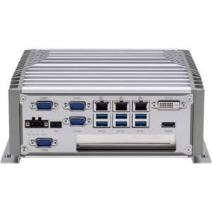 "NISE-3900E NISE-3900 Serie Lüfterloses Industrie Box PC 9te / 8te Generation mit Tripple LAN ** Fanless Embedded Server, Support 8th Gen Intel Core i7/i5/i3 CPUs, Intel Q370PCH Chipset, up to 16GB DDR4, DP, DVI-D, HDMI, 3xGbit LAN, 4xUSB 2.0, 6xUSB 3.1, 2xCOM, Audio, 2.5"" SATA HDD Bay, M.2, SIM, 1xMini-PCIe, 1xPCIe x4, 9...30V DC-In"