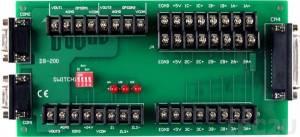 DB-200 Encoder Interface Daughter Board for Servo-300, 25-pin D-Sub Connector and Two 9-pin D-Sub Connector, 10V