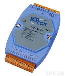 I-7522A Addressable one RS-485 to one RS-232 and one RS-422 Converter, cable CA-0910x1