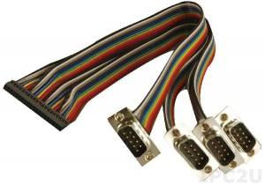 32205-002000-100-RS RS-232 cable, DB9M x 4 to one 40pin (2 x 20) connector (P:2.0), 30cm, 5V