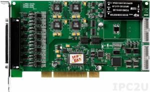 PISO-DA16U PCI 16 DAC with isolation, 16DI, 16DO Board,Cable Socket CA-4002x1