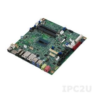 AIMB-231G2-U3A1E Mini-ITX Intel Core i3-5010U 2.1GHz, 2x204-pin DDR3L SO-DIMM, 2xCOM, 6xUSB, 2xGbE LAN, 3xSATA III, mSATA, HDMI, 2xDP, LVDS, 2xMini PCIe, Audio