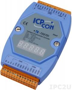 I-7527D Addressable one RS-485 to one RS-232/485 and seven RS-232 Converter, cable CA-0910x1