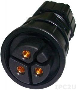 4NCPF00315X00 Power input connector 3P for VMC 3000/ 3001/ 3500/ 3501, ST: PWC-03BFFA-LL7001, 9-36V